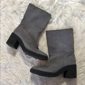 Andre Assous Gray Suede Calf Boots